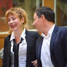Julie Depardieu et Marc Olivier Fogiel, présidents de la vente 2017